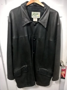 Roots Leather Coat