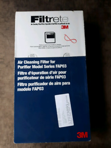Brand new 3M Filtrete air cleaning filter - purifier model FAP03