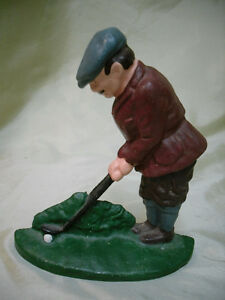Cast Iron GOLFER door stop