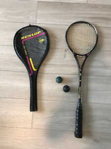 Womens Squash Racket with Cover - Like new