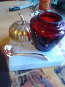 avon strawberry bottle with spoon and lid