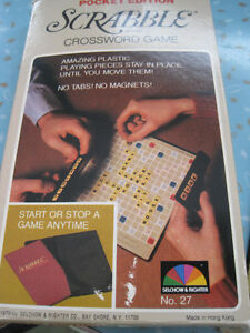 Brand New Vintage Pocket Edition Scrabble Crossword Game