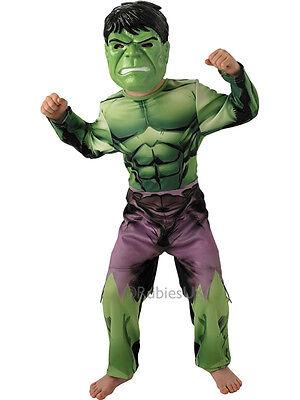 Incredible Hulk Boys Marvel Comics Fancy Dress Kids Superhero Childs Costume - Kid Hulk Kostüm