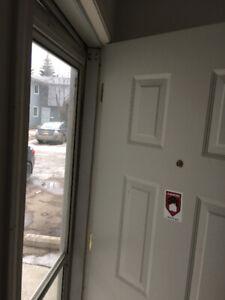 TOP QUALITY STORM door Installs installation, Repair a Cracked D