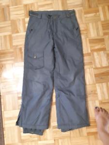 Pantalon neige pour ado taille 12 (gris) et 16 (noir)