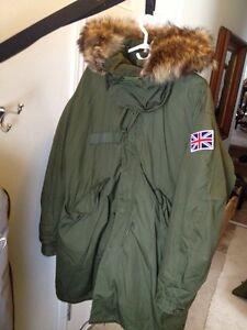 US military AUTHENTIC FISHTAIL coat size medium - large