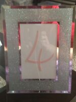 Sparkled silver table numbers