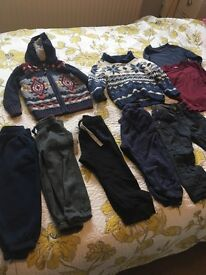 Boys trousers and jumpers age 1.5-2 years
