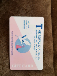 The royal diaperer gift card