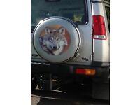Landrover spare wheel cover