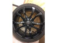 Wolf race alloy 18inch with new tires on all