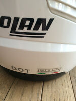 I have a white Nolan N43 helmet for sale. Size:M