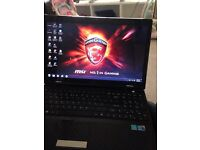 MSI Gaming Laptop quad core with dedicated graphics