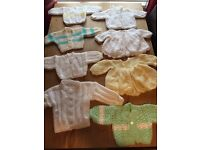 Handknitted baby cardigans 0-3 3-6