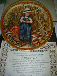 Thanksgiving - collector plate