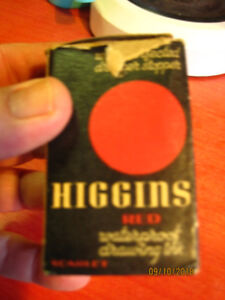 Antique Higgins ink unopened with original box