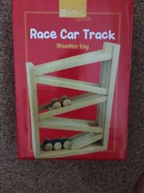 New Wooden race car track