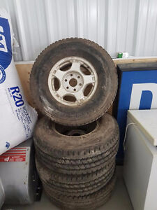 four tires and rims 2000 chev z 71