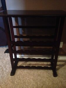 Cherry wood wine rack