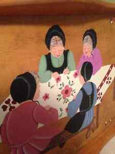 Mennonite Painted Wooden Tray from St. Jacobs Ontario Kitchener / Waterloo Kitchener Area image 1