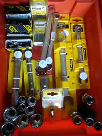 Various Stanley Sockets, Spanners etc