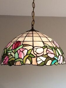Tiffany dining room light and matching kitchen light.