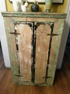 1920s Primitive Pine Jelly Cupboard