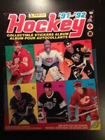 1991-92 Panini sticker book (Hockey cards)