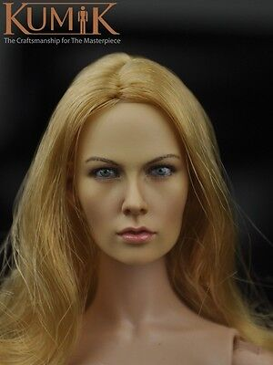 Kumik 1 6 Cersei Lannister Headplay Game Of Thrones Queen Implanted Hair Head