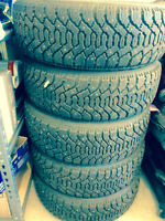 Goodyear studed winter tires with rim