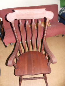 Black cherry maple rocking chair $150