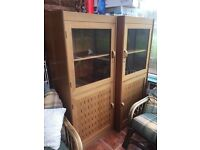 2 solid wood display units cupboards OFFERS PLEASE