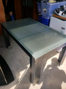 Frosted glass top Dining table & 6 chairs