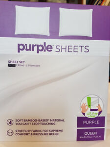 Queen Size Fitted Sheet & Pillow Cases by Purple