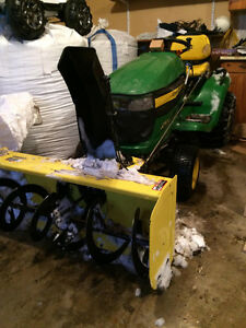 2007 John Deere X500 lawn mower, snow blower and bagger system