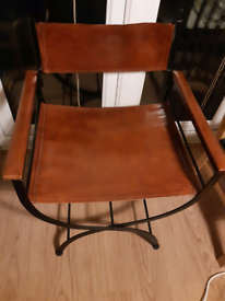 Leather folding chair