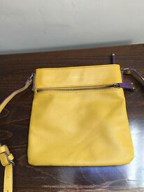 Leather Mustard Joules Crossbody Bag. SOLD