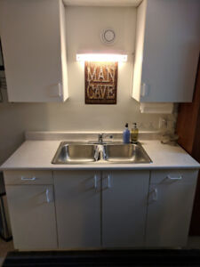 Cabinets, Faucet, Sink for sale