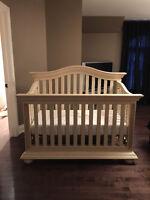 Crib and Hutch / Drawer Combo