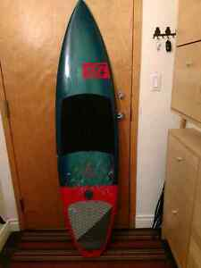 "North WAM 6'2"" kite surfboard with travel bag"