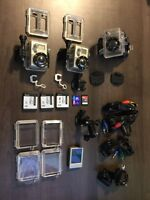 2 Gopro Heros with 1 LCD screen