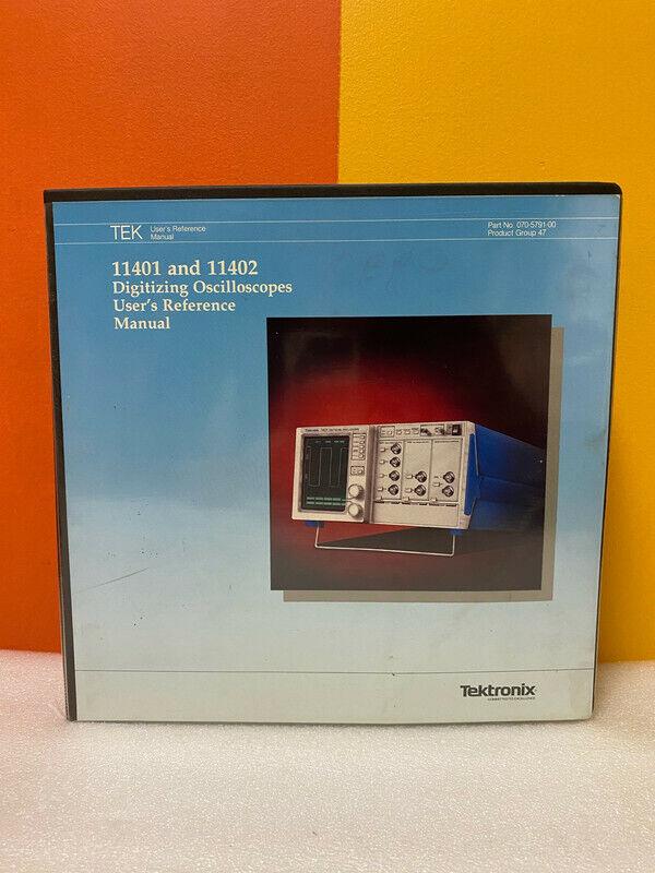 Tektronix 070-5791-00 11401 & 11402 Digitizing Oscilloscope Reference Manual