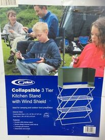 Gelhert Camping Kitchen Stand. 3 Tier.