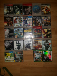 Ps3 video games and 2 Xbox one games