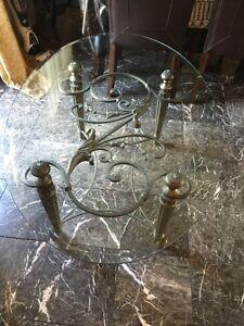 Glass sofa table $200