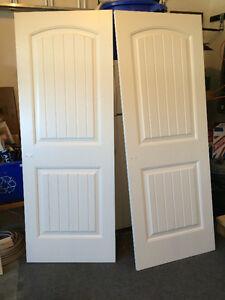 2 Interior White Doors - 2 Panel