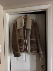 Genuine Men's Sheepskin Shearling Suede Jacket