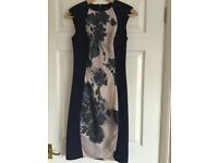Ladies dress navy / floral pattern size 8