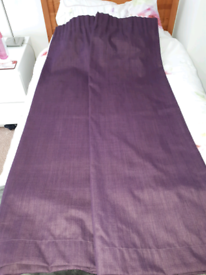 Dunelm Thermal Backing Purple Curtains