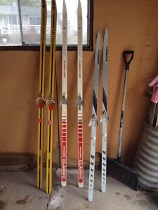 Vintage Cross Country Skis,poles & Boots